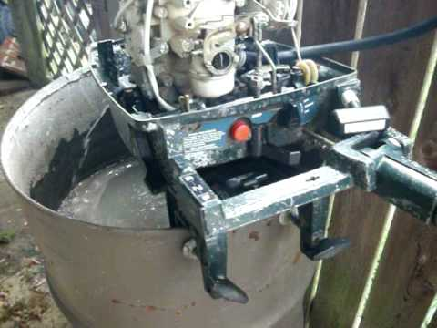 Ted Williams (Sears) 99hp water cooled outboard boat motor running  YouTube
