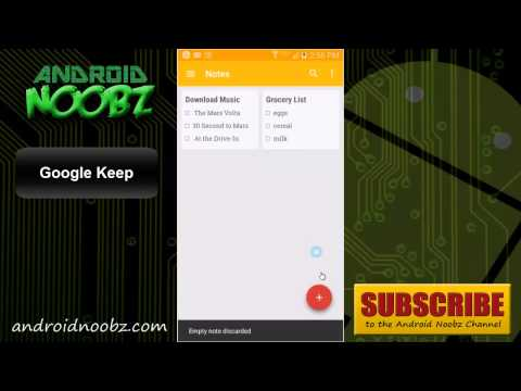 Google Keep: Android App for Making Notes and Lists with Voice Notes