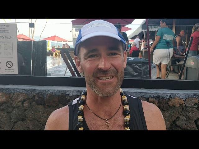 Bruno Clerbout in zijn laatste WK Ironman