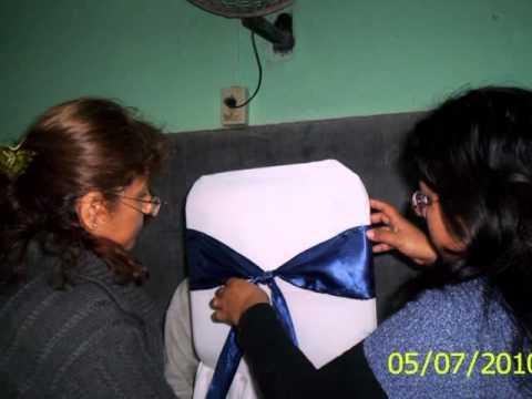 Fundas de gala para sillas youtube for Sillas para festejos
