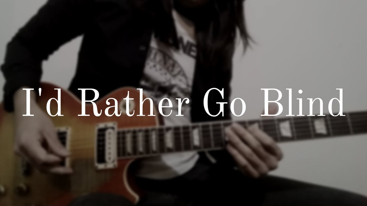Id Rather Go Blind Guitar Coverinstrumental Youtube