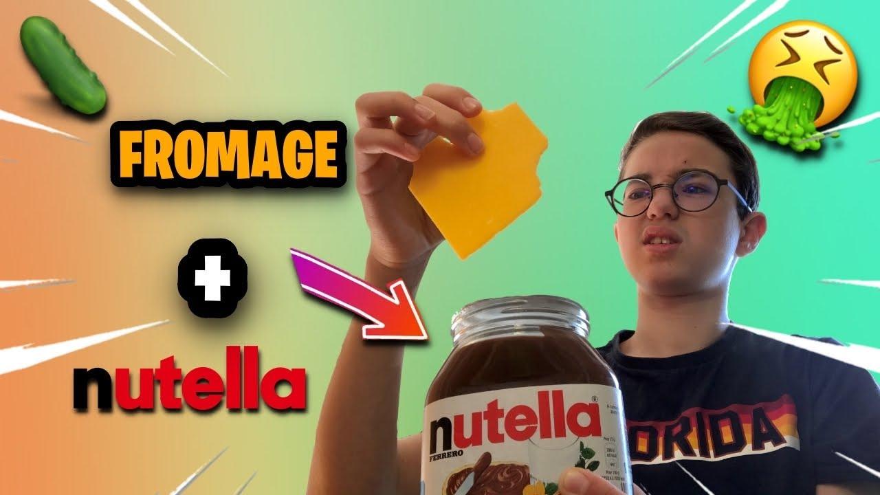 JE TESTE VOS PIRES MÉLANGES DE BOUFFES !!! (vous avez quoi avec le Nutella ? 😂) - Dronis Officiel
