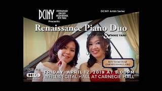 Renaissance Piano Duo (Lan-In Winnie Yang, Tzuyi Zoe Chen) Bolcom Garden of Eden I: Old Adam, clip
