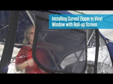 Installing Curved Zipper with Roll-up Screen in Vinyl Window Material
