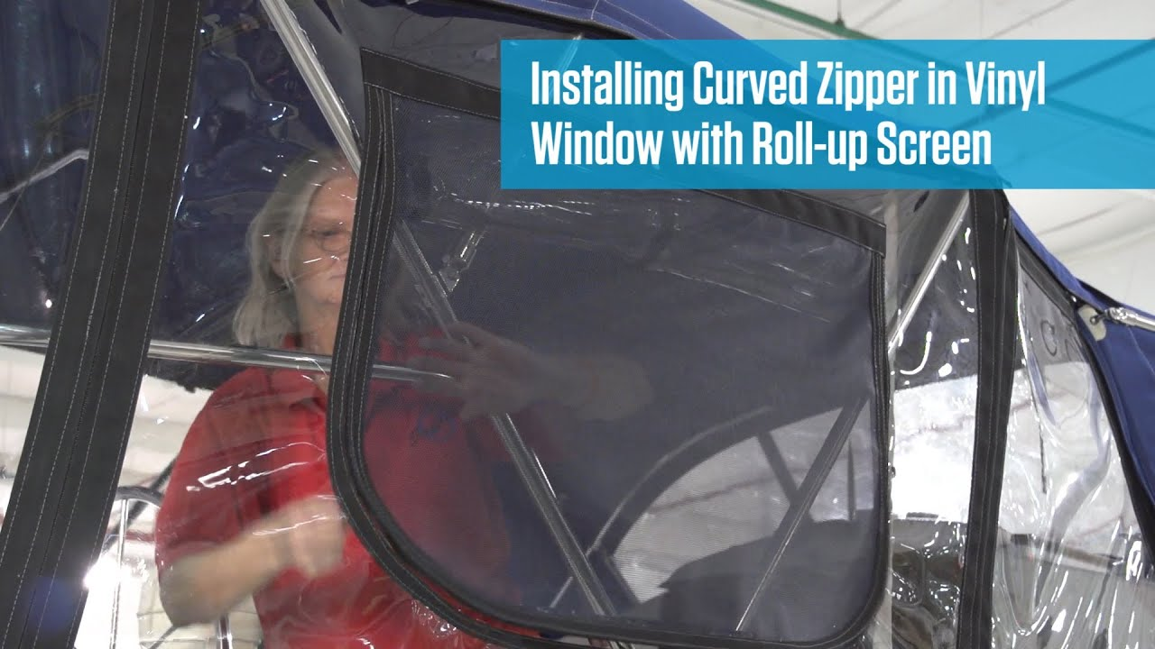 Installing Curved Zipper With Roll Up Screen In Vinyl