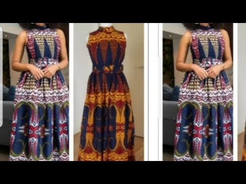 How To Make Turtle Neck Maxi Gathered Gown/Dress With Pockets