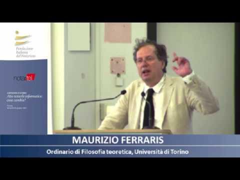 Atto notarile informatico: cosa cambia?  Torino, 16 giugno 2017 - intervento Maurizio Ferraris
