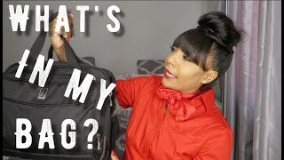 WHAT'S IN MY BAG? | Flight Attendant Edition | Ashley Smith TV