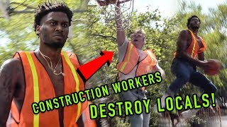 Construction Workers BALL OUT In Fancy NYC Neighborhood! Lunch Break Got WILD! 😱