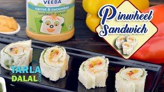 Pinwheel Sandwich  recipe by Tarla Dalal