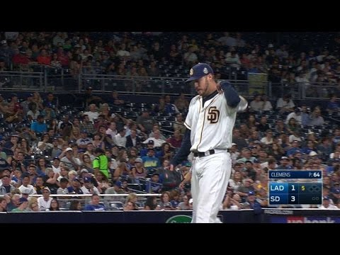 LAD@SD: Clemens strikes out Ethier in the 5th