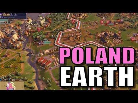 Civ 6: Poland Gameplay [True Start Earth Location Map] Let's Play Civilization 6 Poland | Part 8
