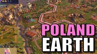 Civ 6: Poland Gameplay [True Start Earth Location Map] Let's Play Civilization 6 Poland | Part 8