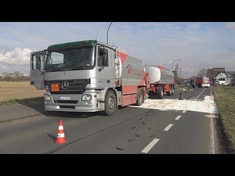 200 Liter Heizöl aus Tankwagen ausgelaufen in Kerpen-Sindorf am 20.02.19