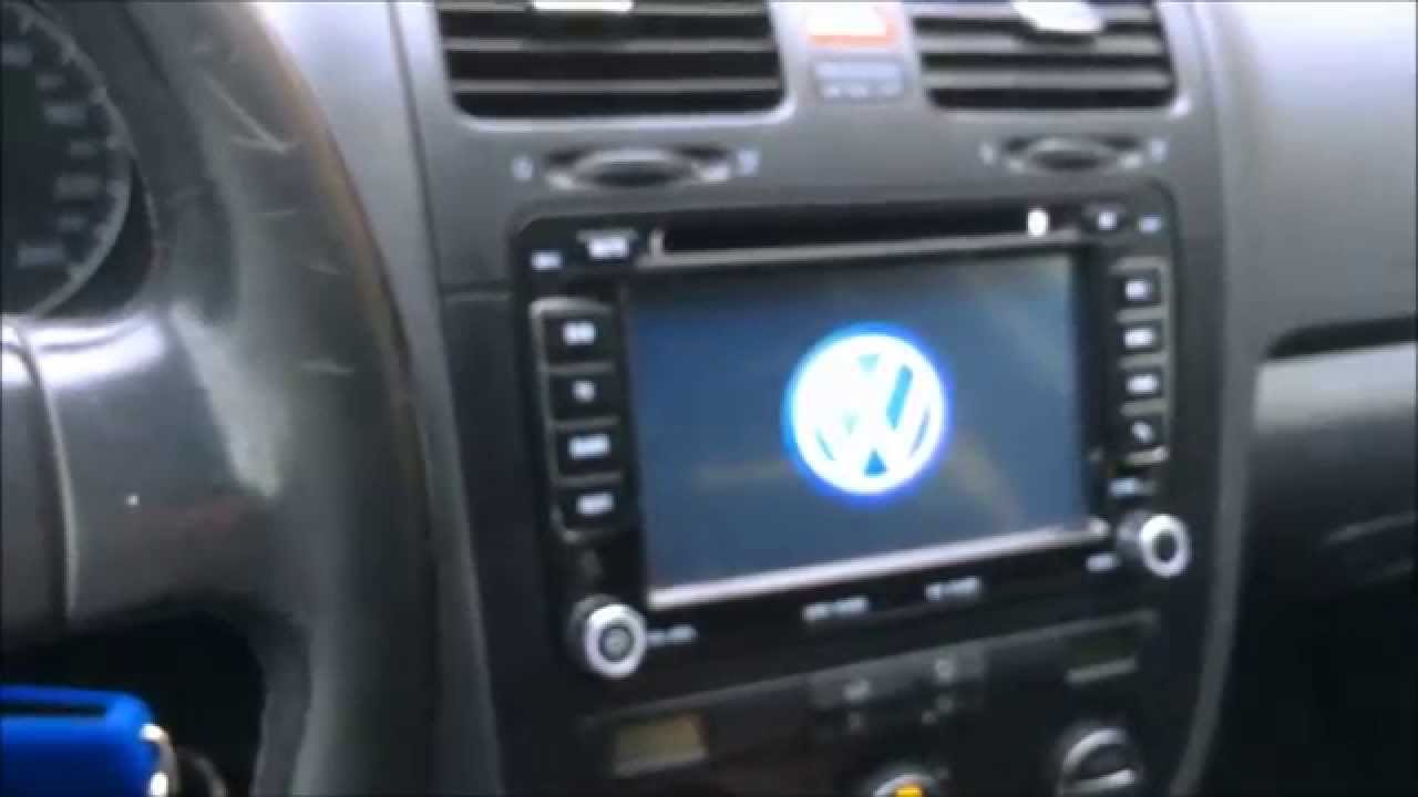 installazione autoradio vw golf 5 mk5 install 2 din gps. Black Bedroom Furniture Sets. Home Design Ideas
