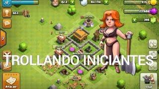 TROLLANDO OS INICIANTES #3 Começando do zero no Clash Of Clans