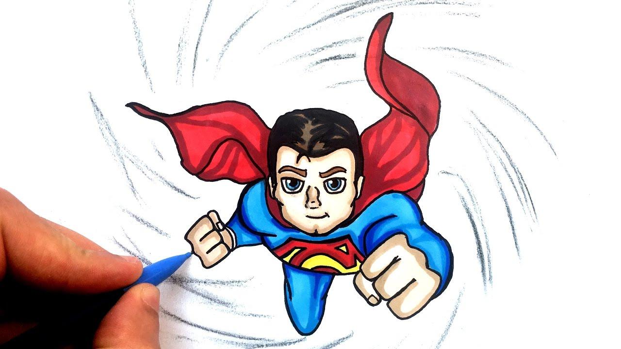 DESSIN SUPERMAN CHIBI !! - YouTube