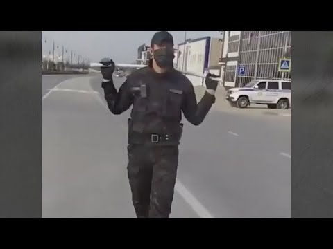 Chechnya under curfew: police beat people without masks