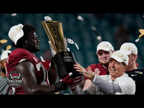 Alabama's 2021 College Football Playoff National Championship Game trophy presentation | ESPN