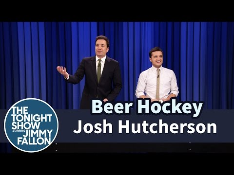 Beer Hockey with Josh Hutcherson