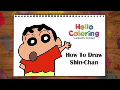 How To Draw Shin-Chan | Learn Painting colors for Kids Toddlers | Kids Art Time