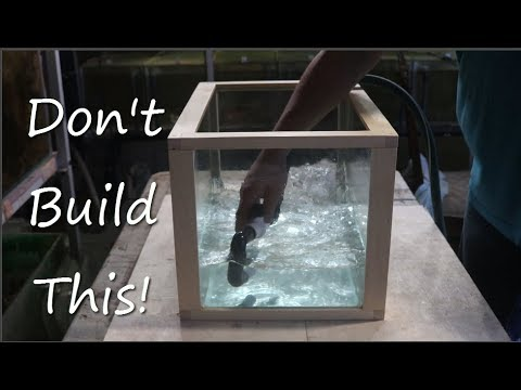 DIY Wood Framed No Silicone Tank Part 1