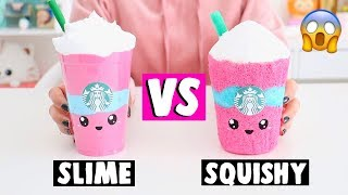 Making Slime Food vs Squishy Food! *extreme challenge*