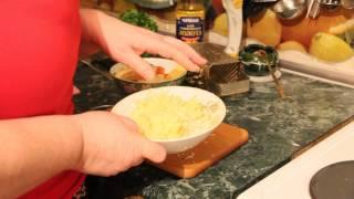 Салат из сельдерея и петрушки на скорую руку