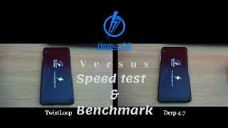 Speed test Custom Kernel TwistLoop Vs Derp 4.7 + Antutu benchmark Xiaomi Redmi Note 5 (Whyred) Havoc