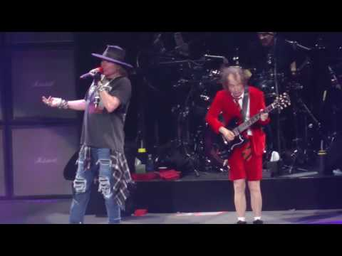 ACDC WAxl Rose  Thunderstruck Madison Square Garden,Nyc 91416