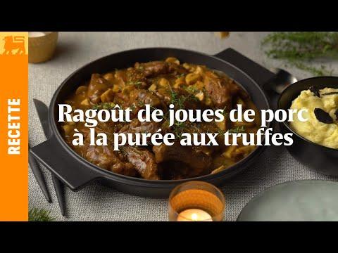 Ragoût de joues de porc à la purée aux truffes