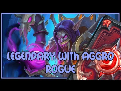 Hearthstone: Legendary with aggro rogue