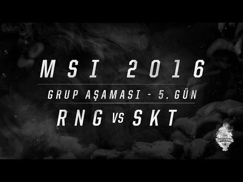MSI 2016 Grup Aşaması - 5. Gün: RNG vs SKT