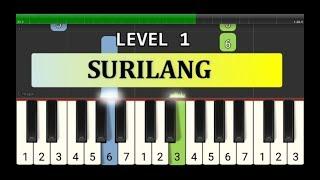 melodi piano surilang - tutorial level 1 - lagu daerah nusantara tradisional - jakarta / betawi