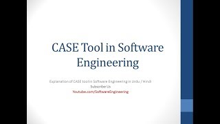 case tools in software engineering in hindi / urdu