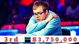 2018 WSOP Main Event Michael Dyer Eliminated in 3rd Place