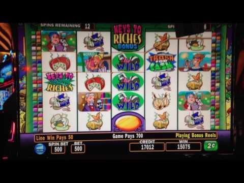 STINKIN' RICH SLOT MACHINE BONUS 2 Cent Denomination MAX BET Nice Bonus!
