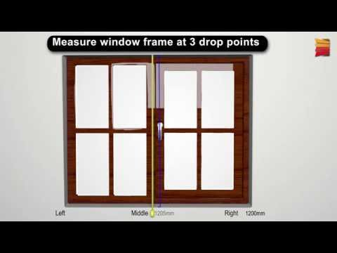 How to measure for Recess (Inside) Venetian, Roller and Roman fitting blinds