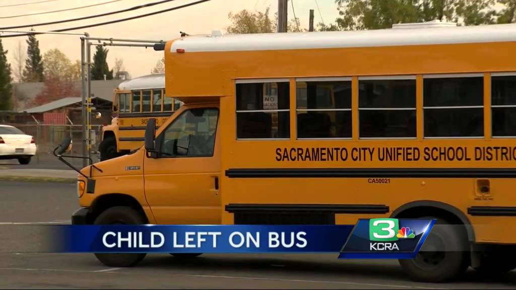 Sacramento Kindergartner Left On School Bus In Parking Lot Youtube