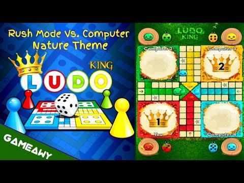 LUDO King Mobile Rush Mode Vs. Computer On Nature Theme | LUDO Game On Mobile | Board Games