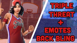 *NEW* TRIPLE THREAT SKIN IN FORTNITE ( EMOTES AND BACKBLING )