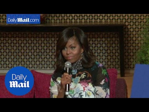 First Lady Michelle Obama speaks in Marrakesh, Morocco - Daily Mail