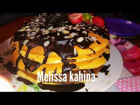 Cuisine melissa kahina Pan cake au chocolat مطبخ ميليسا كهينا اسهل واسرع بان كيك حاضر في 10دق