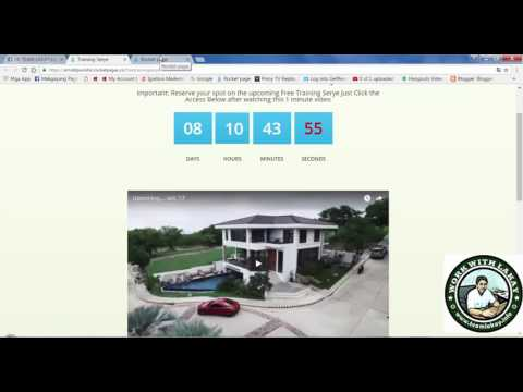 HOW TO CREATE LANDING PAGES WITH TIMER VIDEO and comment section in rocket pages