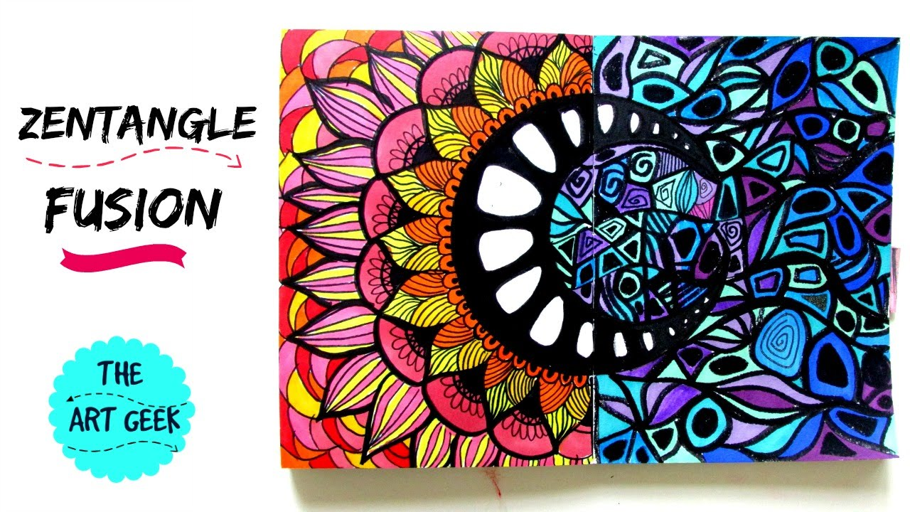 Zentangle Colour Fusion Zenspiredesigns Inspired