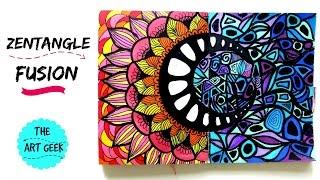 Zentangle Colour Fusion (zenspiredesigns inspired)
