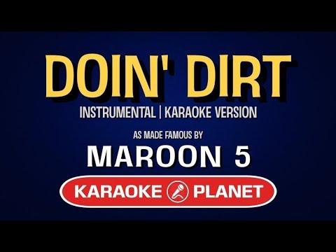 Doin Dirt - Maroon 5   Karaoke