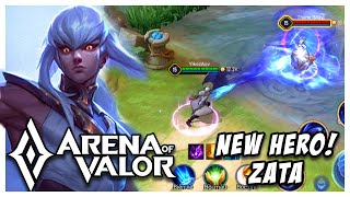 NEW HERO: ZATA (SHUSHENG) GAMEPLAY + SKILLS EXPLAINED | Arena of Valor | AOV | RoV | LienQuanMobile