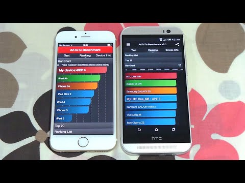 iphone 6 vs htc one m8 boot up amp antutu benchmark