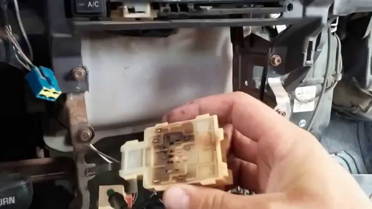 diy replace fan blower switch on 1995 toyot pickup dx 4x4 ac switch [ 1280 x 720 Pixel ]